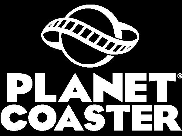Planet Coaster Logo White