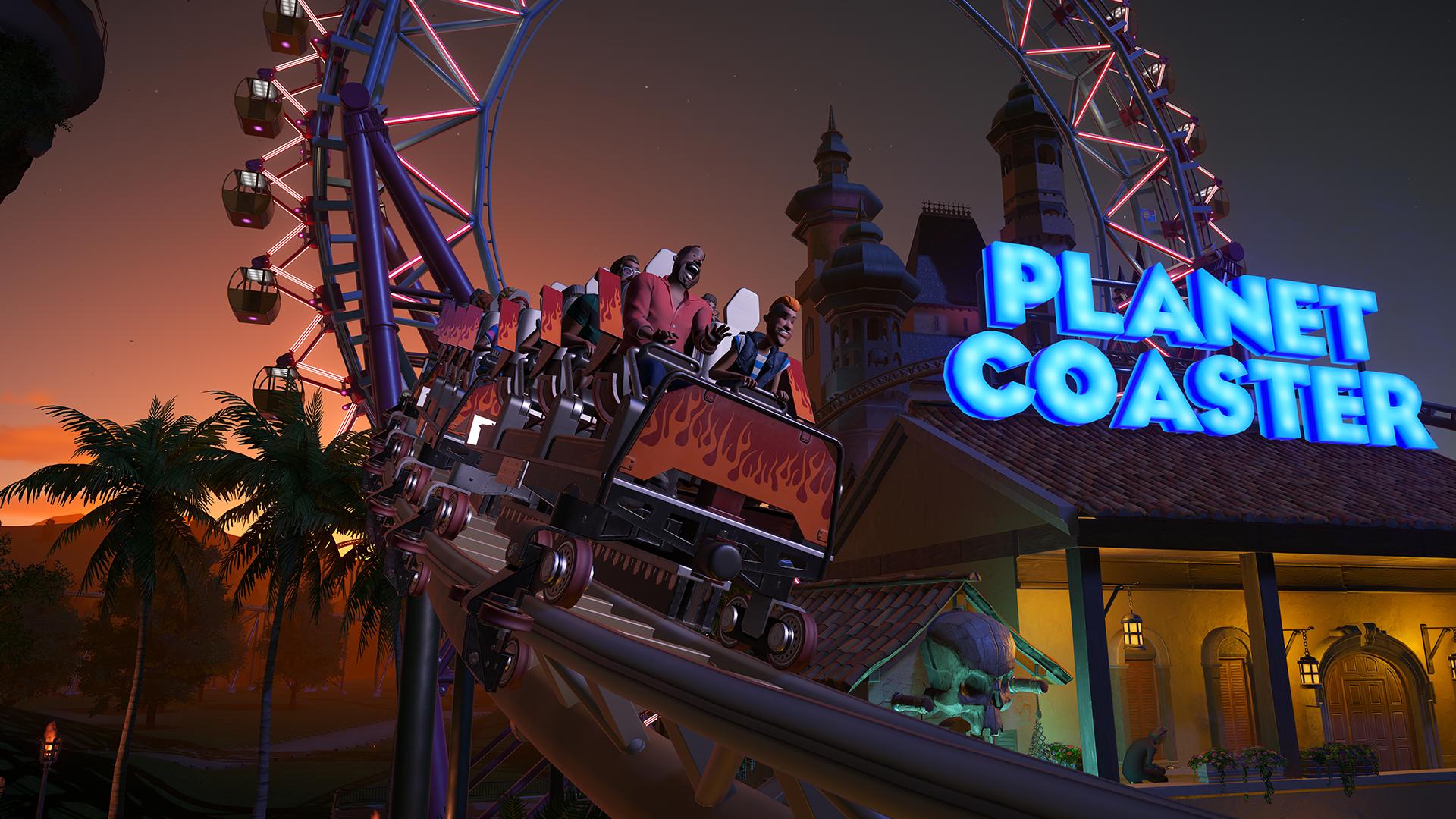 coaster at night