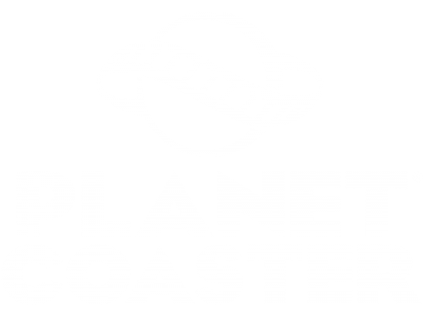 Planet Coaster Logo White