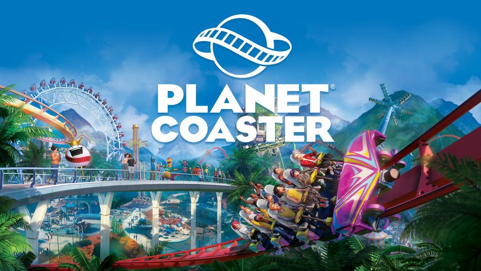 Planet Coaster keyart plus logo